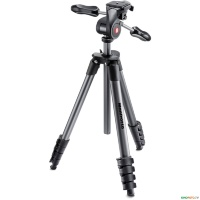 Штатив с 3d головкой MANFROTTO MKCOMPACTADV-BK COMPACT ADVANCED 3-WAY BLACK