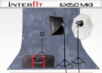 INTERFIT Дом студио-3 150 Ватт EX150Mark2 Umbr/Soft kit INT183