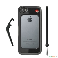 Бампер iPhone 5/5S черный MANFROTTO MCKLYP+5S-B BLACK BUMPER FOR iPHONE 5/5S