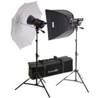 INTERFIT Дом студио-2 Stellar XD 600 w/s Umbrella/Softbox kit INT460