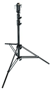 Стальной стенд MANFROTTO 007BSU BLACK CHROME PLATED 3-SECTION STEEL STAND ЧЕРНЫЙ СТАЛЬНОЙ СТЕНД