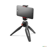 Міні штатив Pixi з кріпленням MANFROTTO MKPIXICLAMP-BK MINI TRIPOD BLACK WITH UNIVERSAL SMARTPHONE CLAMP